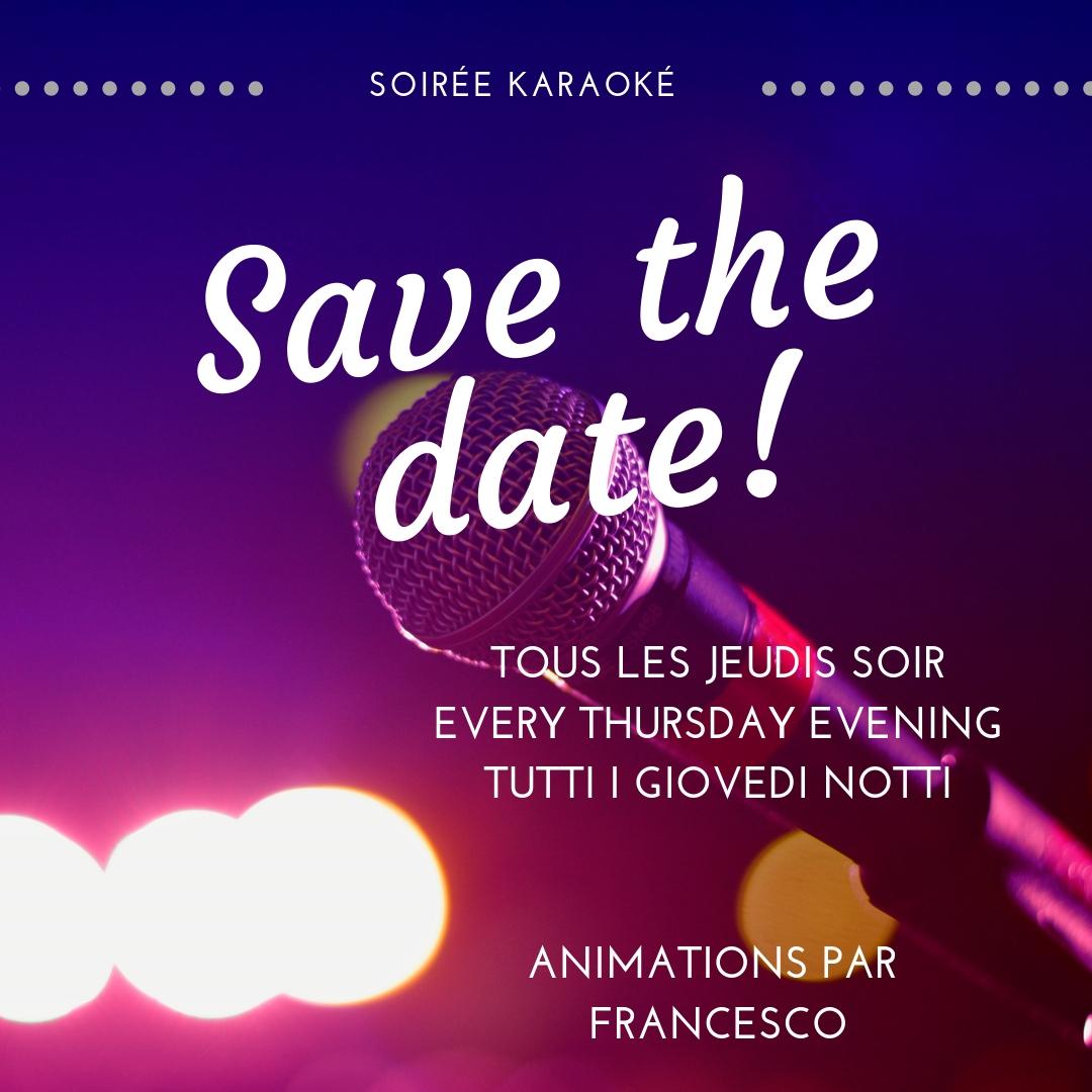 Soiree karaoke jeudi
