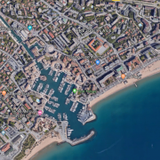 vue satellite Port Fréjus
