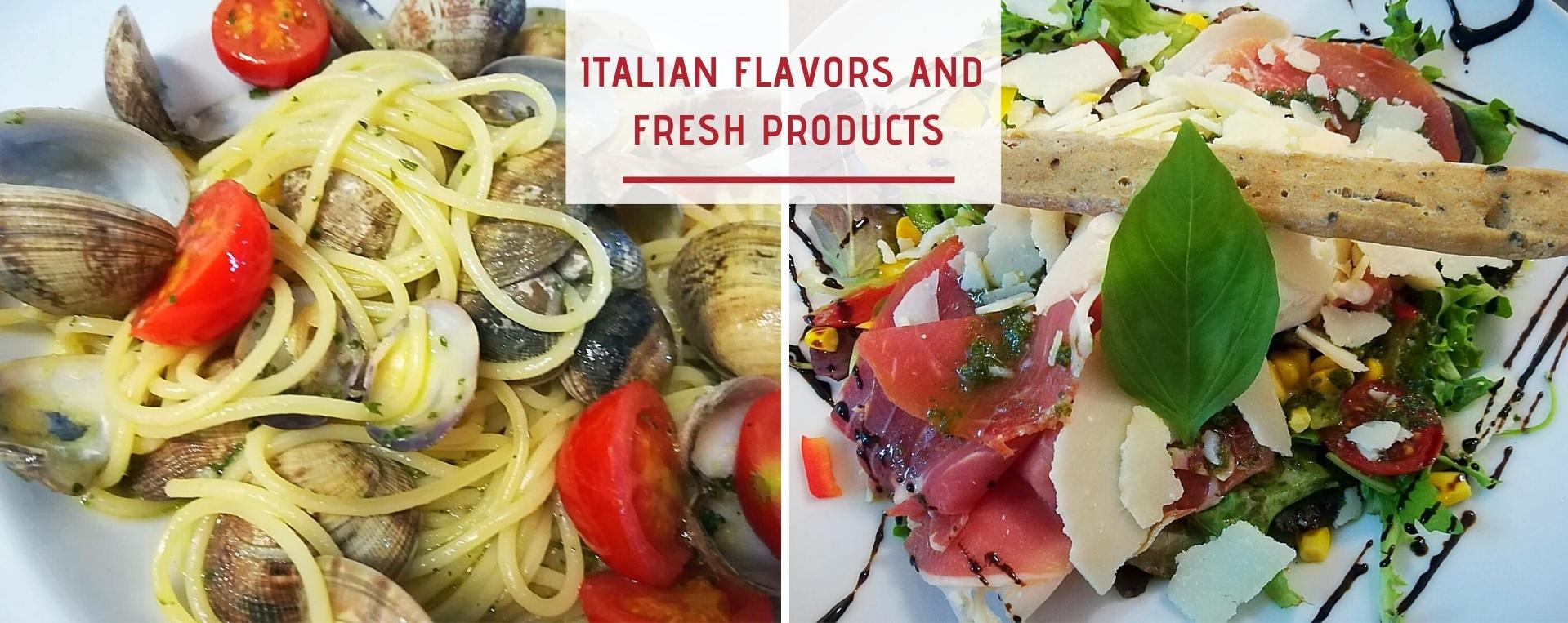 Resto saveurs italiennes anglais